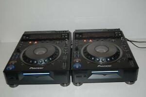 2X Pair Pioneer DVJ-X1 CD/DVD Pro Turntables Excellent L@@@@K!!!!!