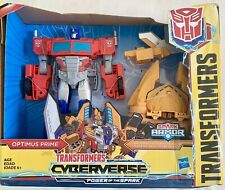 Hasbro Transformers Cyberverse Power of The Spark Armour & Optimus Prime NEW