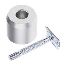 Double Edge Shaving Safety Razor Shaver with Metal Base Stand Set for Men