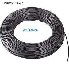 Fil électrique souple HO7-VK 1,5 mm² 10 mètres 9 Couleurs différentes