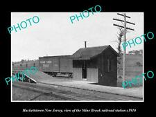 OLD LARGE HISTORIC PHOTO OF HACKETTSTOWN NEW JERSEY THE MINE BROOK RAILROAD 1910