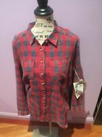 ARATTA ONLY IN DREAMS SHIRT RED PLAID Size Medium
