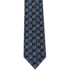 "J. Garcia Men's 100% Silk Novelty Neck Tie Blue Olive Green Multi 3 3/4"" x 56"""
