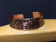 Vintage!! Beautiful Copper Cuff Bangle Bracelet Free Shipping