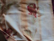 2 Vorhänge Gardinen Voile Band transparent bunt Blume B/H 135 x 225