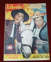 Liberty Magazine MAY 23,1942 ABBOTT & COSTELLO COVER Joe Lewis Private Life vg.
