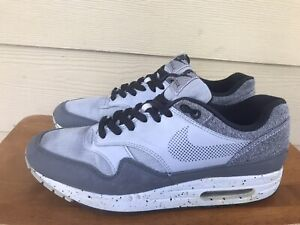 Nike Air Max 1 SE Men's Wolf Grey Black Sneakers Shoes AO1021-002 Size 9.5