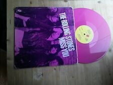 """The Rolling Stones Miss You Excellent 12"""" Single PINK Vinyl Record 12 EMI 2802"""
