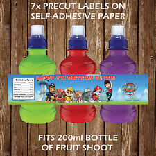 PERSONALISED NICKELODEON CARTOONS FRUIT SHOOT LABELS CHILDREN PARTY FAVOURS