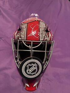 Detroit Red Wings SEBASTIAN COSSA signed Full Size Goalie Mask