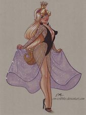Original 1 Character 9 x 12 Color Drawing Art Pin-Up Commission by Eric Matos/EM