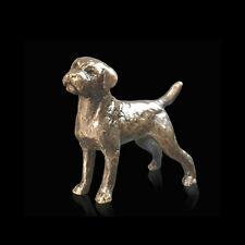 Border Terrier Bronze Foundry Cast Detailed Sculpture Butler & Peach [2072]