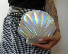 Bolso forma conchas sirena sirena shell plateado original pinup retro