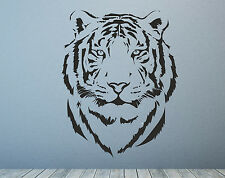 Tiger Head Bengal Cat Safari Asian. Wall Decal Sticker Art.Any Colour or Size.