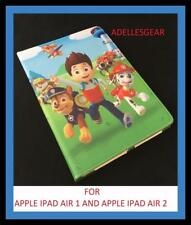 FOR  IPAD AIR 1 IPAD AIR 2 COVER/CASE PAW PATROL RED BLUE DESIGN