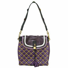Marc Jacobs Runway Purple, Black, and Yellow Shoulder Bag