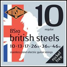 Rotosound BS10 British Steels Stainless Steel Electric Guitar Strings 10 - 46
