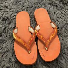 Nike Orange Camo Comfort Flip Flops Sandals Sz 10 Soft Foam Celso Thong