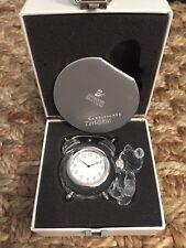 Swarovski Kris Bear Table Clock #212687 New in Box MAKE OFFER!