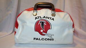 Vintage NFL Atlanta Falcons Retro Vinyl Zippered Duffel Gym Bag