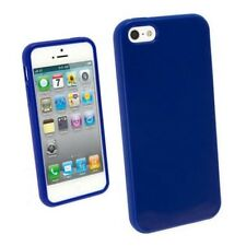 Funda carcasa lisa color azul de tpu gel silicona para Apple iPhone 5/5S/SE