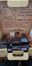 Vintage Kalart 8mm Film Movie Editor Viewer 8 Custom Splicer EV-8 DS Box Manual