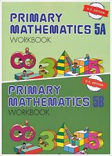 Primary Mathematics (2) Workbooks 5A and 5B US ED - FREE EXPEDITED Shipping