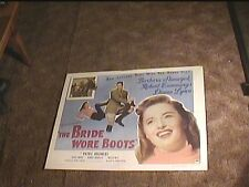 BRIDE WORE BOOTS 1946 HALF SHEET 22X28 MOVIE POSTER BARBARA STANWYCK