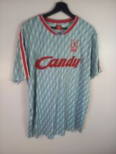 Liverpool FC Grey Away CANDY Retro Football Shirt Top XXLarge