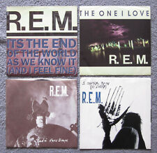 """(3) R.E.M. 7"""" 45's The One I Love """"RADIO FREE EUROPE"""" It's the End Of The World"""