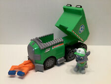 Nickelodeon Paw Patrol Rocky's Recycle Dump Truck & Figure - EUC -