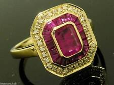 Halo Natural Ruby Fine Rings