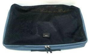 """TUMI Extra Large Nylon Mesh Packing Cube Blue Gray Black 19"""" x 12"""" x 3"""""""