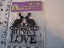 STUDIO G BUNNY LOVE SILHOUETTE EASTER ANNIVERSARY  CLEAR STAMP BUILD A SCENE