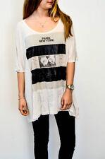 AllSaints Patternless Crew Neck Basic T-Shirts for Women