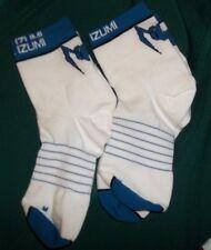 2 pr Pearlizumi  Bicycle Socks. Sz  Md  White/Blue..New w/o tags