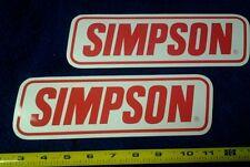 Lot of 2 Original Simpson Saftey Racing Decals NHRA NASCAR Stickers Hot
