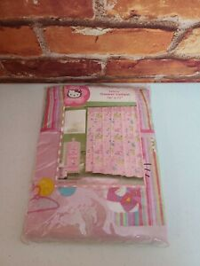 Hello Kitty Fabric Shower Curtain New In Package 70x72 Pink