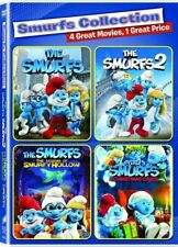 New The Smurfs 4 Film Collection including Smurfs 1 & 2 (DVD)