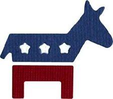 """QuicKutz 2"""" x 2""""  Cutting die -- Democrat"""