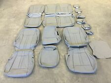 2015 2016 FORD F 150 SUPER CREW XLT KATZKIN GREY GRAY LEATHER SEAT COVER COVERS