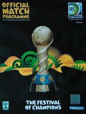 off. Programm FIFA Confed Cup 2013 Brasilien (englisch)