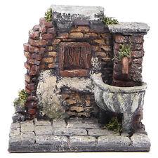 Fontaine électrique en résine crèche 13x13x12 cm