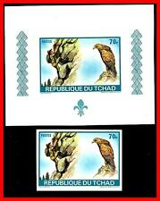Chad 1972 Boy Scouts + LÁMINA CONMEMORATIVA MNH Águila/Aves (E15)