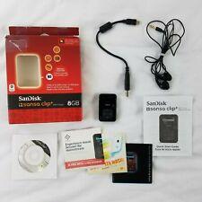 SanDisk Sansa Clip+ Black ( 8 GB ) Digital Media Player - Excellent Condition!
