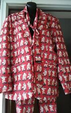 Men Sexy Funny Holiday Santa Clause Red Party Suit 38