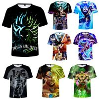 DragonBall Z Goku T-Shirt Super Saiyan Broly Short Sleeve Sports Tee Tops Shirt