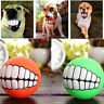 Hot Funny Pet Dog Puppy Ball Teeth Silicon Toy Chew Sound Dogs Play Toys EF