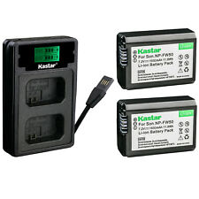 Kastar Camera Battery Charger + Charger for Sony A6500 A6400 A7 A7II NEX-6 NEX-7