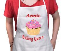 Personalised APRON Any Name Cupcake Baking Design Adult Size Birthday Gift